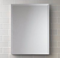 SDG Frameless M-49 Bathroom Mirror(Rectangle Finish : Cerium IV Oxide)