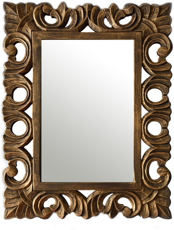 Hallmarc Mdf Designer Polished Mirror (Rectangular) - 18x24 Bathroom Mirror(Rectangular)