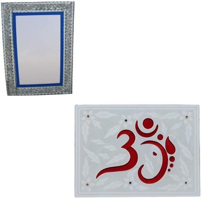 Aruze Deccorative Om And Designer Boarder Decorative Mirror