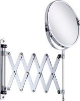 AAI MH13699 Extending Magnifying Make up/shaving Mirror 8 Inch round with 3X Magnification Magnifying Mirror(Round Finish : High Gloss Chrome Polished Brass)