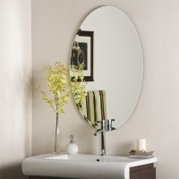 SDG M-119 Bathroom Mirror(Oval Finish : Cerium IV Oxide)