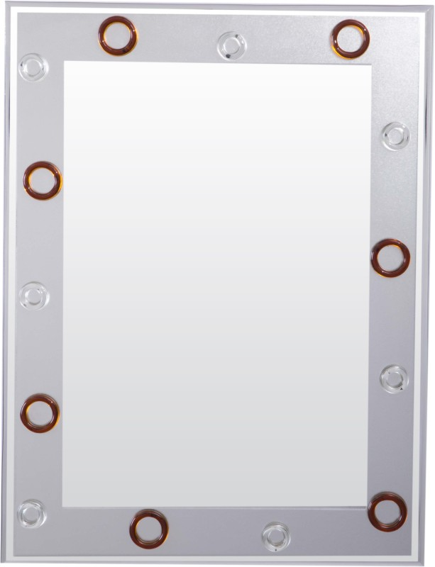 Creative Glass Studio COPPER & SILVER Decorative Mirror(Rectangle Finish : Bevelled Finish)