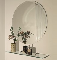 SDG M-132 Bathroom Mirror(Round Finish : Cerium IV Oxide)