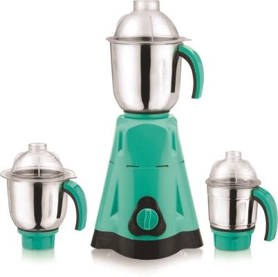 Moksh Platina 750 W Mixer Grinder(Green, Silver, Black, 3 Jars)