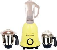 Celebration Latest Jar attachments of chutney medium & juicer jarType-453 750 W Juicer Mixer Grinder(Multicolor, 3 Jars)