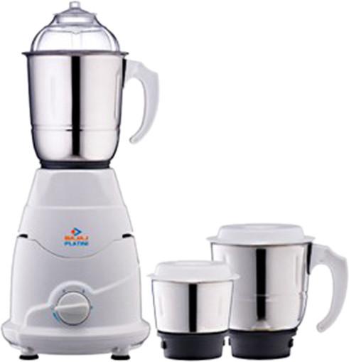 Bajaj PX7 500 W Mixer Grinder(White, 3 Jars)