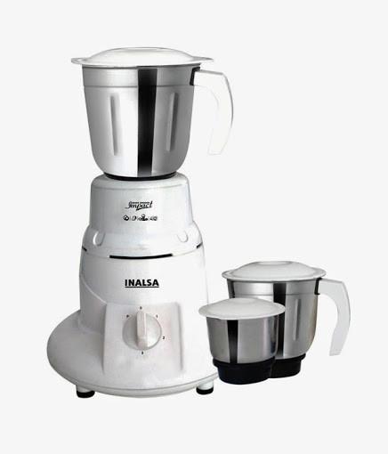 Inalsa Impact mixer grinder 500 W Mixer Grinder(White, 3 Jars)