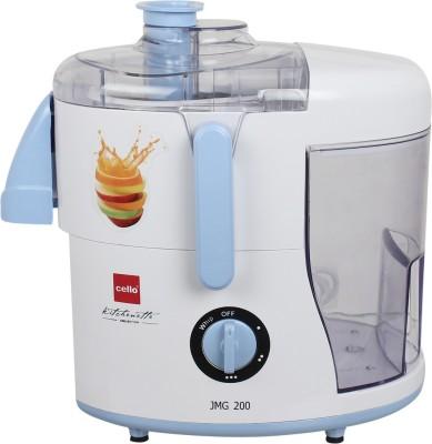 Cello Avni_Juicer_Mixer-1003 500 W Juicer Mixer Grinder(White, Blue, 3 Jars)