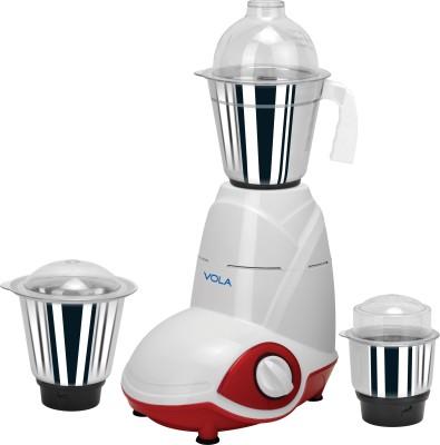 Vola VM-5001 500 W Juicer Mixer Grinder(Red, White, 3 Jars)