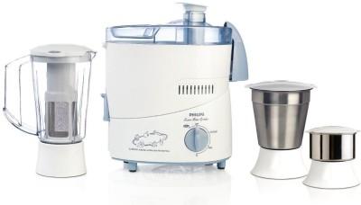 Philips HL 500 W Juicer Mixer Grinder(White & Blue, 3 Jars)