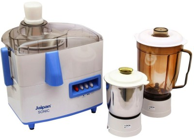 Jaipan JP-JMG001-Sonic 230 W Juicer Mixer Grinder(White, Blue, 2 Jars)
