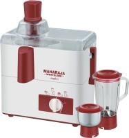 Maharaja Whiteline Mark-1 450 W Juicer Mixer Grinder(White, Red, 2 Jars)