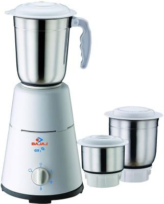Bajaj GX1 500 W Mixer Grinder(White, 3 Jars)