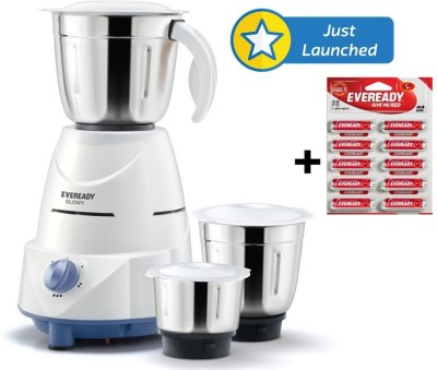 Eveready Glowy 500W Mixer Grinder (3 Jars)