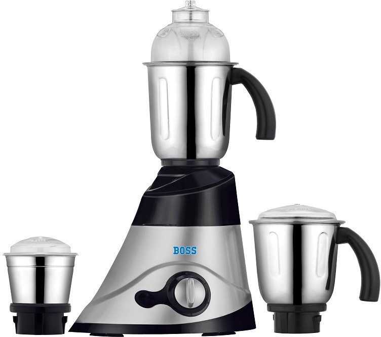 Boss Fortune 750 W Mixer Grinder(Silver-Black, 3 Jars)