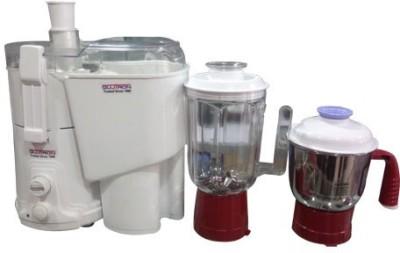 Gujtron Juicer & Mixer Grinders 750 W Juicer Mixer Grinder(White, 2 Jars)