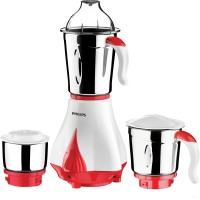 Philips HL7510/00 550 W Mixer Grinder(White, Red, 3 Jars)