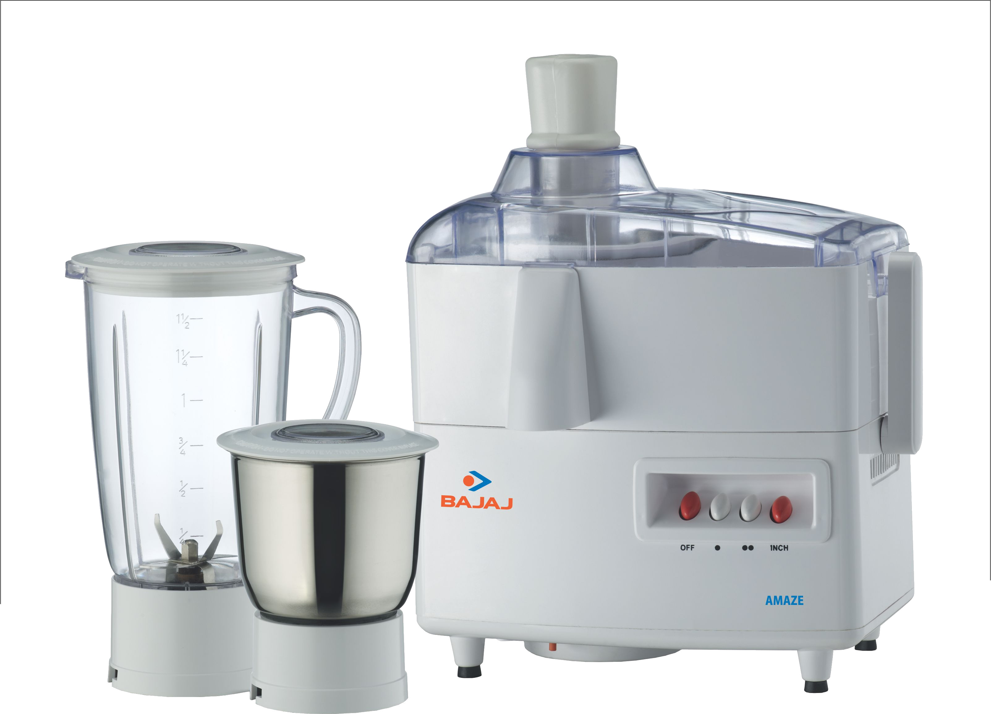 Bajaj Amaze Juicer Mixer Grinder 450 W Juicer Mixer Grinder(2 Jars)