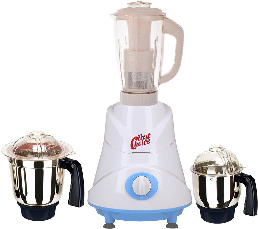 First Choice Latest Jar attachments of chutney medium & juicer jarType-507 600 W Juicer Mixer Grinder(Multicolor, 3 Jars)