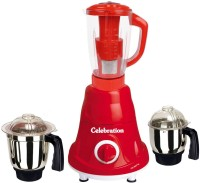 Celebration Latest Jar attachments of chutney medium & juicer jarType-443 600 W Juicer Mixer Grinder(Multicolor, 3 Jars)