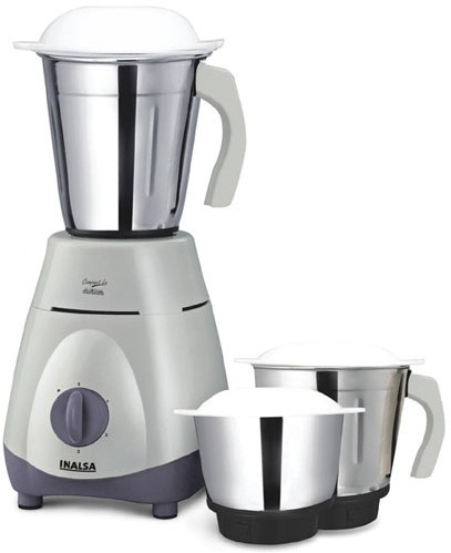 Inalsa COMPACT PLUS 750 W Mixer Grinder(STEEL GREY, 3 Jars)