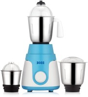 Boss Joy 550 W Mixer Grinder(White-Blue, 3 Jars)