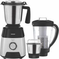 Borosil Silverline 600 W Mixer Grinder(Black and White, 3 Jars)