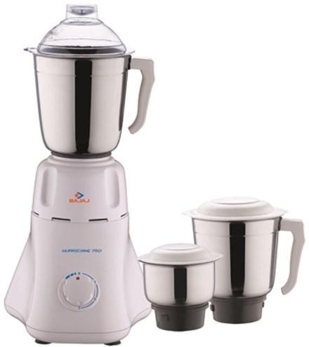 Bajaj Easy with 3 Jars 500 W Mixer Grinder(White, 3 Jars)