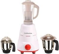 Celebration Latest Jar attachments of chutney medium & juicer jarType-434 600 W Juicer Mixer Grinder(Multicolor, 3 Jars)