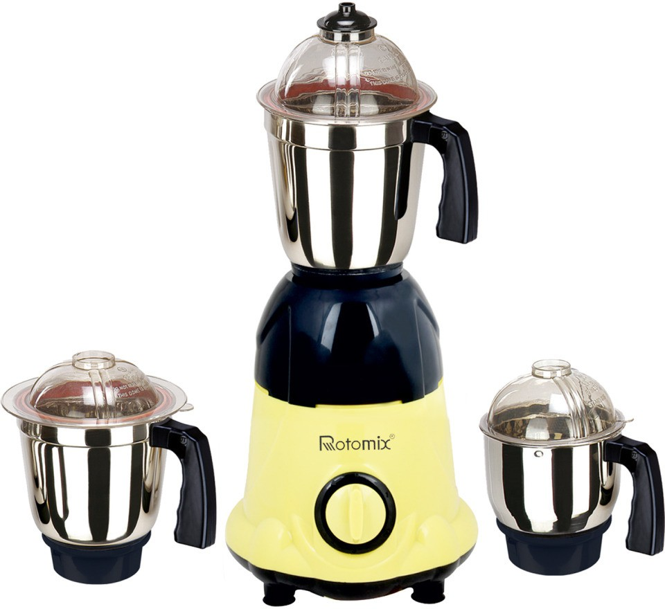 Rotomix RTM-MG16 10 600 W Mixer Grinder(Yellow, 3 Jars)