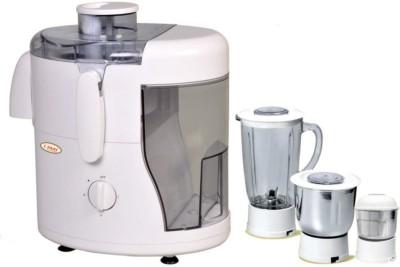 Cinni JMG 550 W Juicer Mixer Grinder(White, 3 Jars)