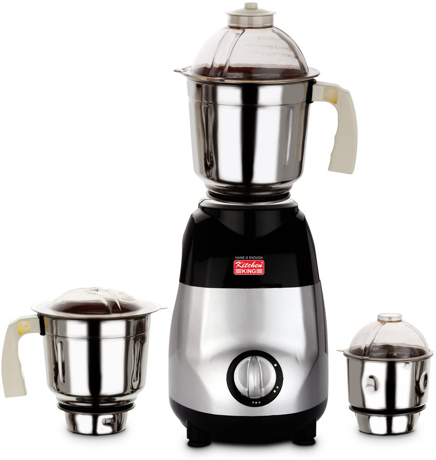 Kitchen King Woodland 750 W Mixer Grinder(Silver, 3 Jars)