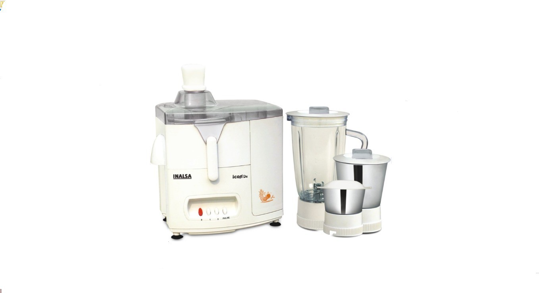 Inalsa icon DX 500 W Juicer Mixer Grinder(White, 3 Jars)