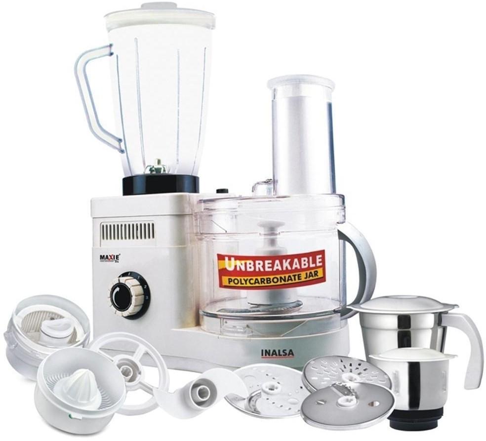 Inalsa Maxie Dx 600 W Juicer Mixer Grinder(White, 4 Jars)