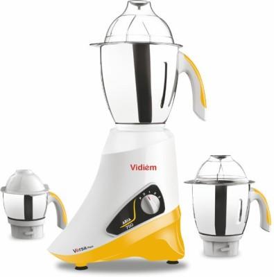 Vidiem Versa Pace 750 W Mixer Grinder(Yellow, 3 Jars)