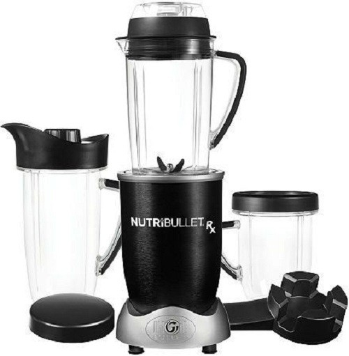 NutriBullet RX Blender 10-Piece Set 1700 W Juicer Mixer Grinder(Black, 3 Jars)