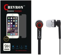 Chevron Tempered Glass Screen Guard Protector For Xiaomi Redmi Note 2 Prime With Chevron 3.5mm Stereo Earphones Accessory Combo(Transparent) best price on Flipkart @ Rs. 349