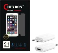 Chevron 0.3mm Tempered Glass Screen Guard Protector For Panasonic P55 With USB Mobile Wall Charger Accessory Combo best price on Flipkart @ Rs. 349