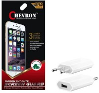 Chevron Ultra Clear HD Screen Guard Protector For Nokia Asha 210 With USB Mobile Wall Charger Accessory Combo best price on Flipkart @ Rs. 299