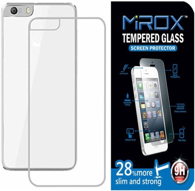 Mirox Tempered Glass For Micromax Canvas Knight 2 E471 With Transparent Back Cover Accessory Combo