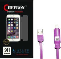Chevron 0.3mm Tempered Glass Screen Guard Protector For Panasonic P55 With 2 In 1 Data Cable (Micro USB & Lighting) Accessory Combo best price on Flipkart @ Rs. 349