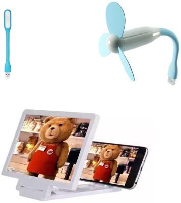 Bigkik Led Lamp+Usb Fan+ 3d Phone Screen Combo Set