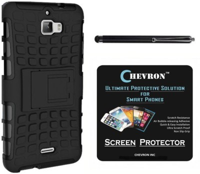 Chevron Hybrid Military Grade Armor Kick Stand Back Cover Case for Coolpad Dazen 1 With HD Screen Guard & With Stylus Accessory Combo
