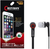 Chevron Ultra Clear HD Screen Guard Protector For HTC One M9 With Chevron 3.5mm Stereo Earphones (With Mic) Accessory Combo best price on Flipkart @ Rs. 199