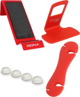 Riona 4 in 1 - Mobile Wall Shelf (Large) + Wall Mobile Holder + Cable Organizer + Scratch Guard Pads (A7LRC) Accessory Combo(Red) best price on Flipkart @ Rs. 379