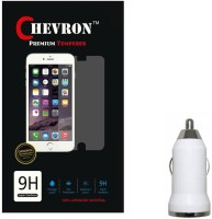 Chevron Tempered Glass Screen Guard Protector For Panasonic P55 Novo With USB Car Charger Accessory Combo best price on Flipkart @ Rs. 349