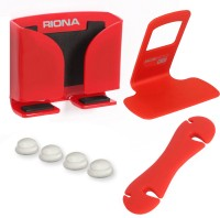Riona 4 in 1 - Car Mobile Holder (Large) + Wall Mobile Holder + Cable Organizer + Scratch Guard Pads (A6LRC) Accessory Combo best price on Flipkart @ Rs. 379
