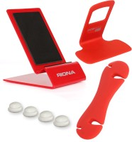 Riona 4 in 1 - Desk Mobile Stand (Large) + Wall Mobile Holder + Cable Organizer + Scratch Guard Pads (A4LRC) Accessory Combo best price on Flipkart @ Rs. 379