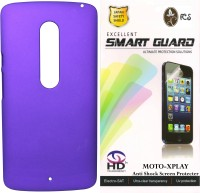 FCS FCS Rubberized Hard Back Cover Case with Anti Shock Screen Protector For Motorola Moto X Play Accessory Combo(Purple)