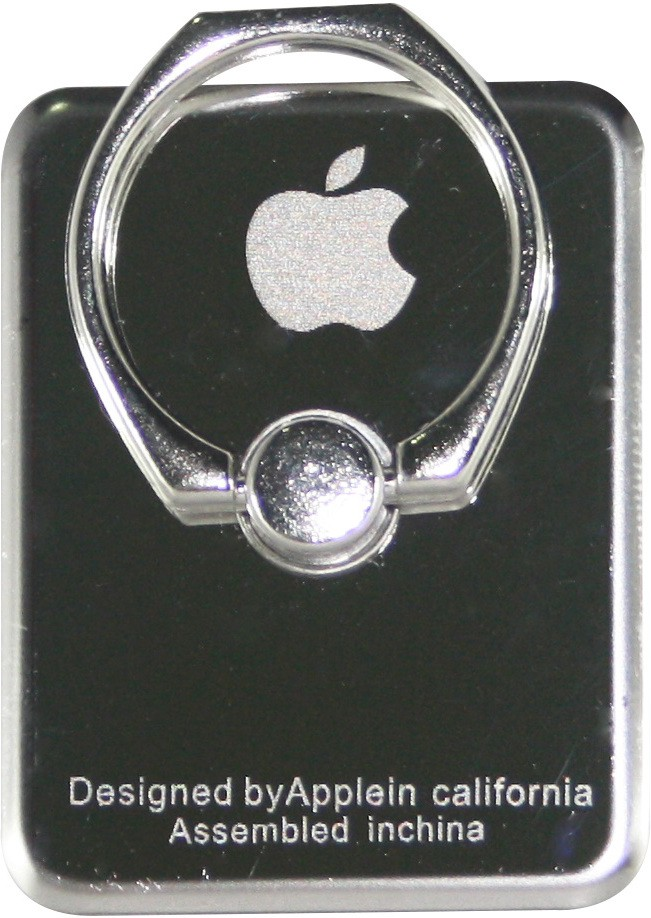 Armac IRing Easy Grip Stand Apple for any Smart Device Metal Glossy Finish - Silver Mobile Holder